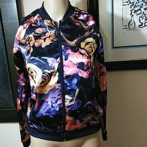 Adidas Flower Bomber Jacket, Med